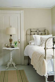 small space       I would love that bed frame for my future child's room, the look is  so gorgeous and antique with style.