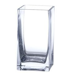 "Bulk 24 Pieces Clear Glass 3x3x6 Square Vase by Candles4Less. $69.38. Made of Glass. Handmade. Cut and Polished Trim. Decorative Case ( Case of 24). Size: 6"" Tall Square Opening 3"" x 3"" Wide. It's perfect as either a candleholder or a flower vase. Decorate your reception tables with this versatile hurricane. Size: 6"" Tall Square Opening 3"" x 3"" Wide · Made of Glass · Handmade · Cut and Polished Trim"