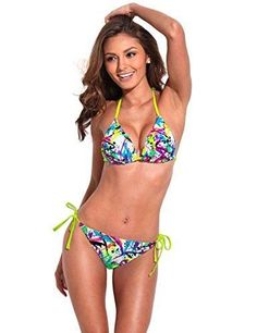 c06325d2dc500 RELLECIGA Women s 2pc Swimwear Swimsuit Twist Push Up Top Bottom Bikini Set