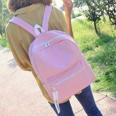 Casual Canvas Pendant Backpack