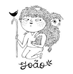 João, 2014 Label artwork and design. Inspired by images of St. John the Baptist as a child. www.retrosaria.rosapomar.com/collections/yarn/products/joao