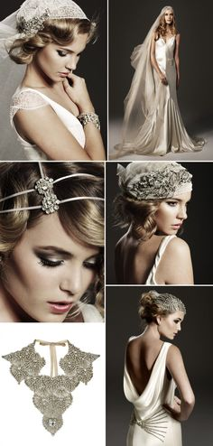 vintage inspired bridal hair accessories wedding jewelry GET LISTED TODAY! http://www.HairnewsNetwork.com  Hair News Network. All Hair. All The time.