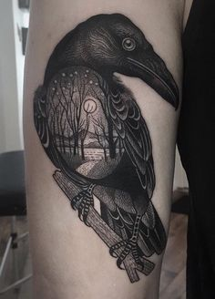 Susanne Konig Raven tattoo