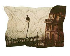 Montmartre, Paris | Bruce Cline, Polaroid Emulsion Transfers