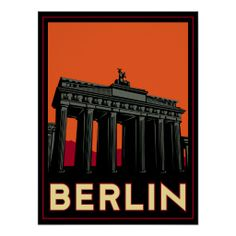 berlin germany oktoberfest art deco retro travel print