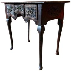 Magnificent Antique Low Boy Heavily Carved Solid Oak 18th Century Hall Table George III by SplendidAntiques on Etsy https://www.etsy.com/uk/listing/492518919/magnificent-antique-low-boy-heavily