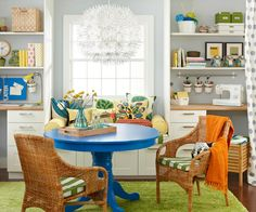 decorology: Using bold, bright furniture