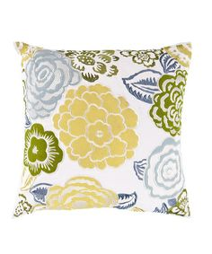 Take a look at this Peridot & Grass Flower Throw Pillow by Surya on #zulily today!