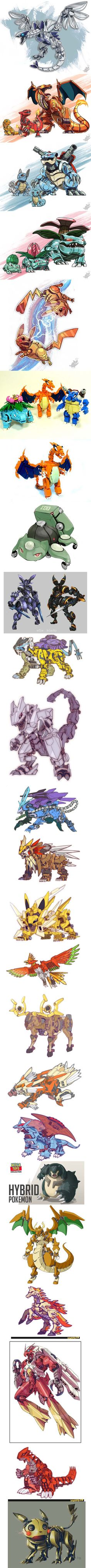 Pokemon as mecha... Mechamon?