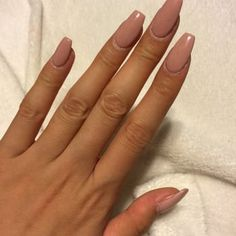 Photo of Glitter Nails - Turlock, CA, United States. Coffin Shape Nude Nails
