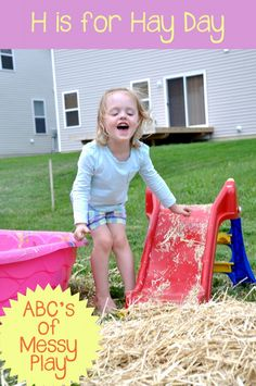 Messy Play Hay Day | play learn love