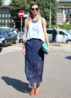 @Who What Wear - What are some fresh ways to style a midi skirt for summer?