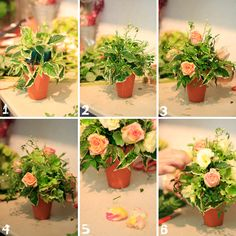 diy floral centerpiece tutorial. cute but with more flowers.