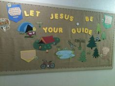 VBS SonRise National Park bulletin board.