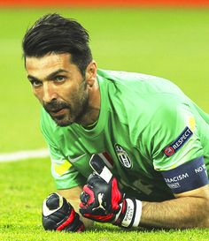 Gianluigi Buffon of Juventus FC looks on during the UEFA Champions League Quarter Final First Leg match between Juventus and AS Monaco FC at Juventus Arena on April 14, 2015 in Turin, Italy.