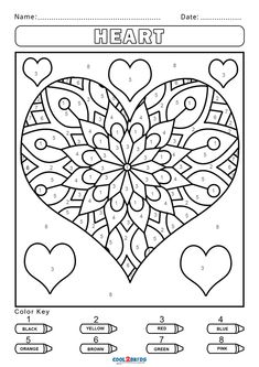 Free Adult Color By Number, Color By Number Printable, Color By Numbers, Coloring Sheets For Kids, Printable Coloring Pages, Coloring Pages For Kids, Coloring Books, Alphabet Coloring, Activity Pages For Kids Free Printables