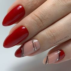 nails Hair Styles Online: The Power You Always Wanted Article Body: Looking for hair styles on magaz Matte Nail Art, Red Nail Art, Red Nails, Hair And Nails, Nail Manicure, Nail Polish, Nail Art For Beginners, Nagellack Trends, Finger Nail Art