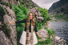 Gal Meets Glam Gap of Dunloe & Dingle - Serena & Lily dress, Dubarry sweater, scarf from Ireland