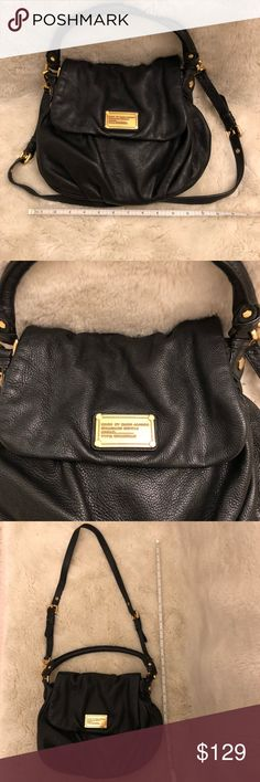 Marc by Marc Jacobs Black Leather Crossbody Classic Black Leather Marc by Marc Jacobs double strap Cross Body bag in excellent condition. No wear or tear outside or inside. Soft durable leather. Make me an offer! Marc By Marc Jacobs Bags Crossbody Bags