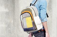 限量一件 手工拼接設計後背包 / 肩背包 / BOHO登山包 - 森林系旅行民族風