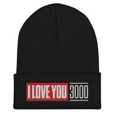 I Love You 3000 Beanie - Black