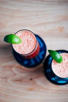 watermelon coolers with ginger and lime