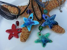 Deb Anderson of Salty Sea Ceramics - Charlotte, NC - Accessories Starfish Wall Decor, Crystal Beads, Crystals, Handcrafted Jewelry, Handmade, Charlotte Nc, Recycled Glass, Seaside, Recycling