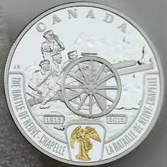 Canada 20 Dollars Gold-Plated Coin 2015 The Battle of Neuve-Chapelle First World War Battlefront Series Design: The reverse design . Ww1 Battles, Canadian Things, Gold And Silver Coins, Mint Coins, Bullion Coins, Coins For Sale, World Coins, Coin Collecting, 1 Oz
