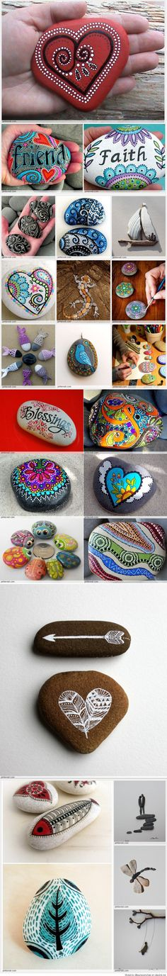 DIY Easy Animal Painted Rocks Ideas to Make Nice Painters Stone Art For Beginner Stone Crafts, Rock Crafts, Fun Crafts, Diy And Crafts, Crafts For Kids, Arts And Crafts, Pebble Painting, Dot Painting, Pebble Art