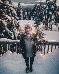 ali loves snow, as you can tell from this photo. Snow Pictures, Winter Pictures, How To Pose, Winter Photography, Seasons, Photo And Video, Christmas, Better Things, Cozy