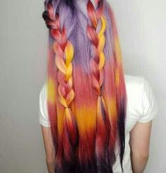 61 Ideas for hair color crazy haircolor Hair Goals Color, Cool Hair Color, Pulp Riot Hair Color, Tips Belleza, Hair Art, Purple Hair, Trendy Hairstyles, Hair Trends, Dyed Hair