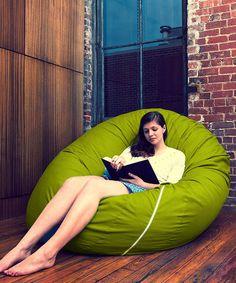 Lime Green Jaxx Cocoon Bean Bag by Jaxx Bean Bags on #zulily
