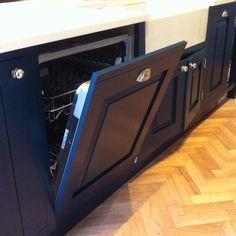 Hague Blue cabinets Kitchen Cabinet Colors, Kitchen Paint, Kitchen And Bath, Kitchen Cabinets, Kitchen Ideas, Kitchen Design, Hague Blue, Blue Cabinets, Larder