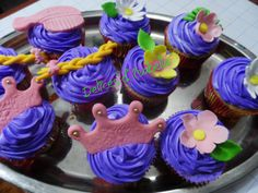 cupcakes rapumzell...dulzura hecha pastel