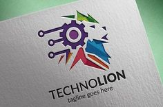 Techno Lion Logo by tkent on @Graphicsauthor
