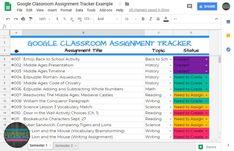 create and edit spreadsheets online, for free. Classroom Helpers, Math Classroom, Google Classroom, Classroom Ideas, Teaching Technology, Teaching Biology, Back To School Activities, School Ideas, Stem Activities