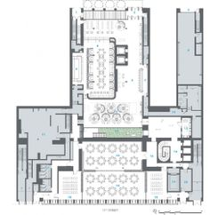 hotel floor plan Great Architecture at Dream Downtown Hotel NYC (Floor Plans) - Diva Shyne - Restaurant Layout, Restaurant Floor Plan, Restaurant Design, Restaurant 2, Cafe Floor Plan, Hotel Floor Plan, Floor Plan Layout, House Floor Plans, The Plan