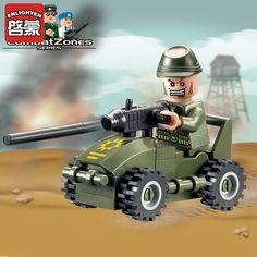 Enlighten Blocks Army Car Styling Blocks Military Educational Building Blocks Assemblage Brick Toys For Children Kids Gifts #Affiliate