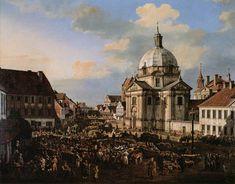 Bernardo Bellotto, Belotto (Canaletto)  - Church, Warsaw 1778♥♥♥