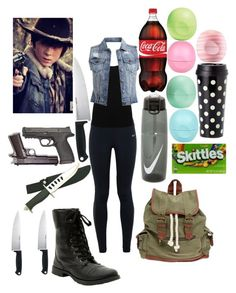 """""""Carl Grimes"""" by robandshannon ❤ liked on Polyvore featuring NIKE, M&Co, VILA, Kershaw, Smith & Wesson, Wet Seal, River Island, Kate Spade, Eos and women's clothing"""
