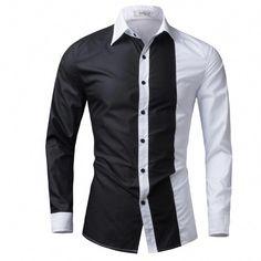 Men Shirt Long Sleeve 2016 Brand Shirts Men Casual Male Slim Fit Fashion  Spell Color Chemise Mens Camisas Dress Shirts WEYOR    Nazhmite na  izobrazheniye ... d6c124182cb9c