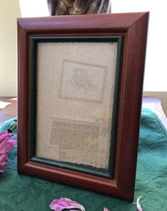 Vintage Brown Wood Picture Frame Green Accent Color Vintage | Etsy Vintage Gifts, Etsy Vintage, Vintage Items, Wood Picture Frames, Picture On Wood, Limoges China, Green Accents, Antique China, Brown Wood