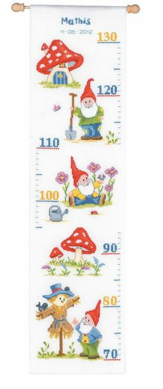 Vervaco Counted Cross Stitch Kit - Height Chart - Gnome. Kari, love this one too!