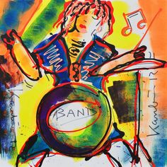 Band Band, Painting, Art, Modern Art, Sash, Painting Art, Paintings, Painted Canvas, Bands