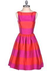 Kate Spade Striped Satin Dress