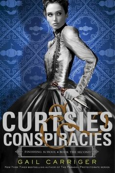 Curtsies & Conspiracies by Gail Carriger! = First Impression: I'm #reading Curtsies & Conspiracies by Gail Carriger. I really loved Etiquette & Espionage, so I was really excited about the sequel. The names are funny and ridiculous, the characters complex and interesting, the mystery is keeping me hanging on and wanting more. I just really love this series, and it's making me really want to read the Parasol Protectorate series. I can't wait to see how this book ends. #ChristinaReads…