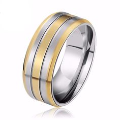 Never Fade Stainless Engagement/Wedding Ring. Starting at $1 #HappyDance #Rings