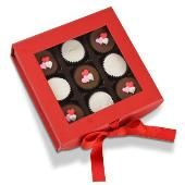 Rocky Mountain Chocolate Factory Red Gift Box with Peanut Butter Pails - creamy sweet peanut butter and rich milk chocolate
