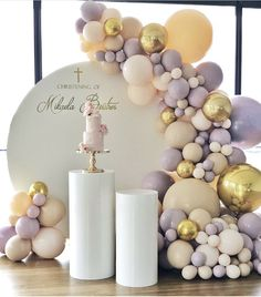 Girl Birthday Decorations, Balloon Decorations Party, Balloon Garland, Baby Shower Decorations, Party Themes, Baby Shower Balloons, Birthday Balloons, Baby Shower Themes, Birthday Design