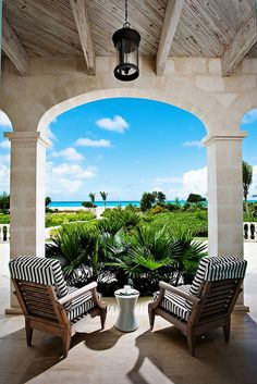 The view from the veranda Outdoor Rooms, Outdoor Living, Outdoor Decor, Outdoor Projects, Coastal Homes, Coastal Living, Coastal Bedrooms, Coastal Decor, Beautiful Homes